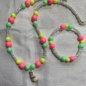 Easter necklace and bracelet set